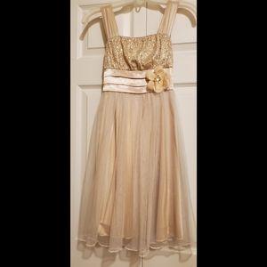 My Michelle Girl's Gold Dress